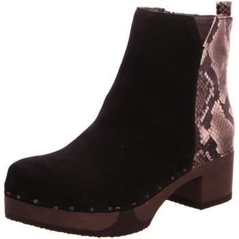 Schuhe Damen Stiefel Softclox Stiefeletten S3493 schwarz