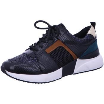 Schuhe Damen Sneaker La Strada Schnuerschuhe 1807433-6070 black/green schwarz
