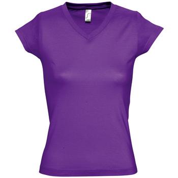Kleidung Damen T-Shirts Sols MOON COLORS GIRL Violeta