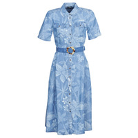 Kleidung Damen Maxikleider Desigual KATE Blau