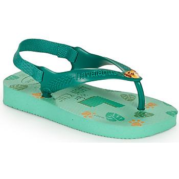 Schuhe Kinder Zehensandalen Havaianas BABY DISNEY CLASSICS II Grün
