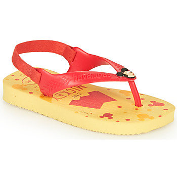Schuhe Jungen Zehensandalen Havaianas BABY DISNEY CLASSICS II Gelb / Rot