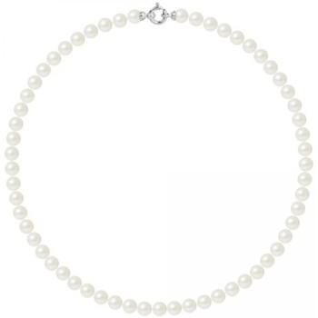 Uhren & Schmuck Damen Collier Blue Pearls BPS K062 W - OB Weiss