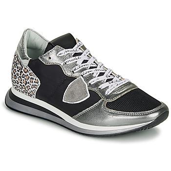 Schuhe Damen Sneaker Low Philippe Model TROPEZ X Schwarz / Silbern