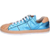 Schuhe Damen Sneaker Low Moma sneakers leder blau