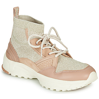 Schuhe Damen Sneaker High Coach C245 RUNNER Rose / Silbern