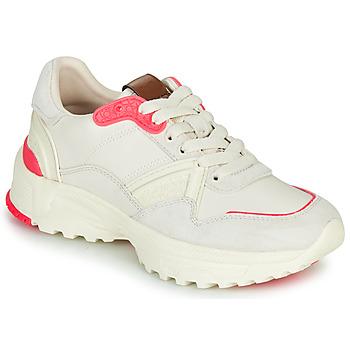 Schuhe Damen Sneaker Low Coach C143 RUNNER Weiss / Rose