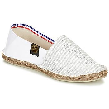 Schuhe Damen Leinen-Pantoletten mit gefloch Art of Soule AUDACIEUSES Weiss / Silbern