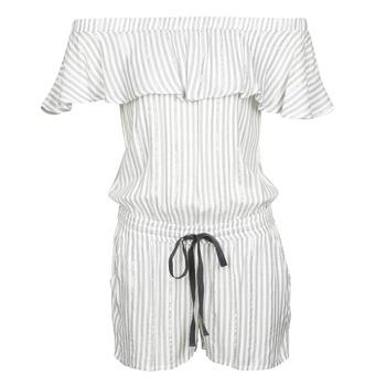 Kleidung Damen Overalls / Latzhosen Deeluxe FAYME Weiss / Blau