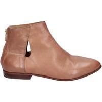 Schuhe Damen Ankle Boots Moma stiefeletten leder beige