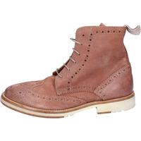 Schuhe Damen Boots Moma stiefeletten wildleder pink