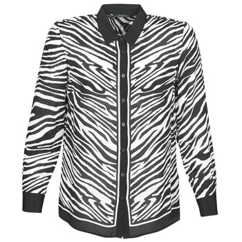 Kleidung Damen Hemden Ikks BQ12105-03 Schwarz / Weiss