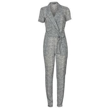 Kleidung Damen Overalls / Latzhosen Ikks BQ32045-03 Schwarz / Weiss