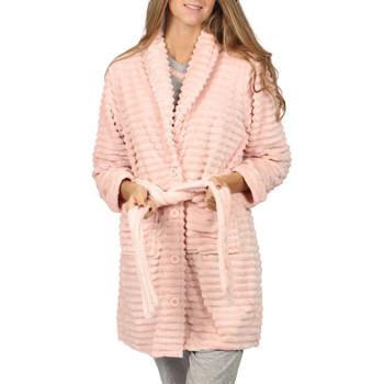 Kleidung Damen Pyjamas/ Nachthemden Admas Bademantel Winter Paisley Zartrosa