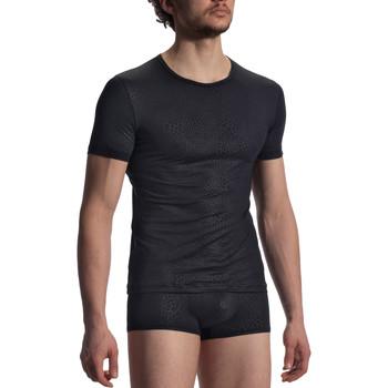 Unterwäsche Herren Unterhemden Olaf Benz T-Shirt RED1907  schwarz Perlschwarz