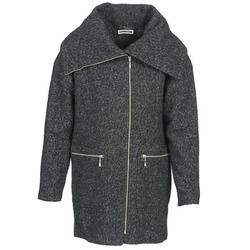 Kleidung Damen Mäntel Noisy May ROUND Grau / Schwarz