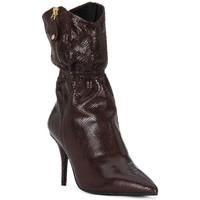 Schuhe Damen Klassische Stiefel Elvio Zanon COBRINO PRUGNA Rosso