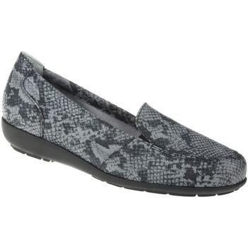 Schuhe Damen Slipper Natural Feet Mokassin Matilda Farbe: schwarz schwarz