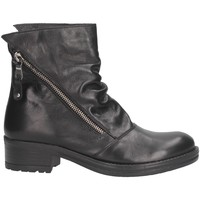 Schuhe Damen Low Boots Made In Italia 6 BIKER ALTO Biker Frau schwarz schwarz