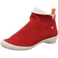 Schuhe Damen Stiefel Softinos Stiefeletten 900085-566 rot