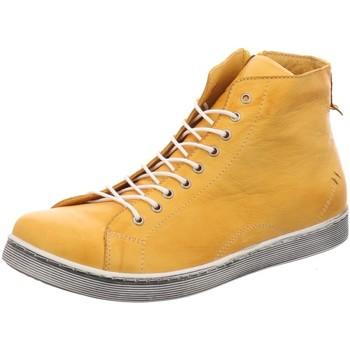 Schuhe Damen Stiefel Andrea Conti Stiefeletten 0341500116 gelb