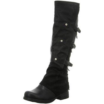 Schuhe Damen Klassische Stiefel Laufsteg München Stiefel HW190212 BLACK schwarz