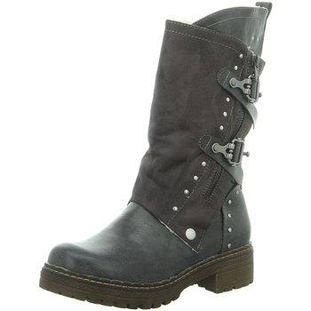 Schuhe Damen Stiefel Laufsteg München Stiefel HW190804 DK GREY grau