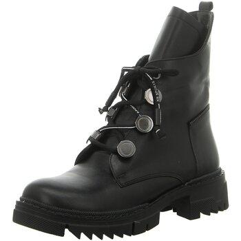 Schuhe Damen Low Boots Artiker Stiefeletten 45C605 schwarz