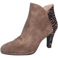 Schuhe Damen Ankle Boots Brenda Zaro Stiefeletten Granada LS2943 grau