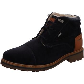 Schuhe Herren Stiefel Bugatti Alvaro 311180541400-4100 blau