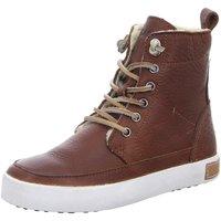 Schuhe Jungen Sneaker High Blackstone Schnuerstiefel K-Schnürer warm CK01 Old Yellow braun