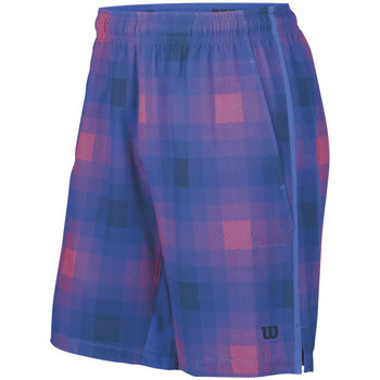 Tennis / Badminton / Squash Wilson Summer Blur Plaid Stretch Woven 8 Short