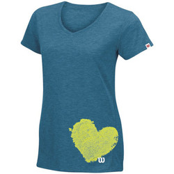 Kleidung Damen T-Shirts Wilson Summer Clay Heart Tech T