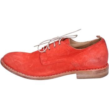 Schuhe Damen Derby-Schuhe Moma elegante wildleder rot