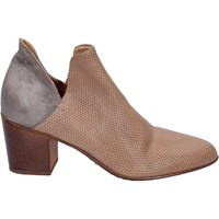 Schuhe Damen Ankle Boots Moma stiefeletten leder grau