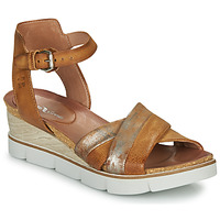 Schuhe Damen Sandalen / Sandaletten Dream in Green MARZI Cognac