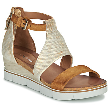 Schuhe Damen Sandalen / Sandaletten Dream in Green MARLEY Camel / Goldfarben