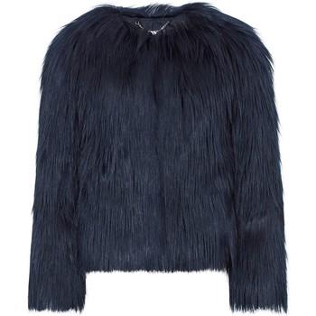 Kleidung Damen Mäntel Anastasia Black Dawn Luxe Faux Mongolian Kunstpelzjacke Black