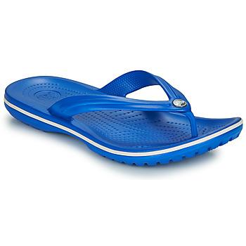 Schuhe Zehensandalen Crocs Crocband Flip Blau