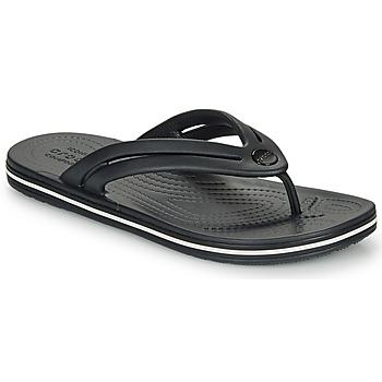 Schuhe Damen Zehensandalen Crocs CROCBAND FLIP W Schwarz