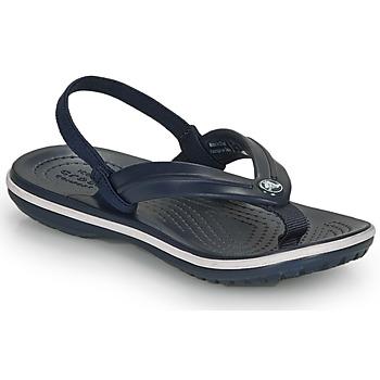 Schuhe Kinder Sandalen / Sandaletten Crocs CROCBAND STRAP FLIP K Marine