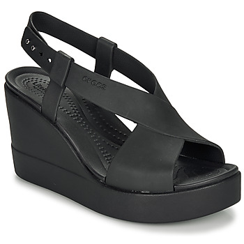 Schuhe Damen Sandalen / Sandaletten Crocs CROCS BROOKLYN HIGH WEDGE W Schwarz