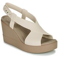 Schuhe Damen Sandalen / Sandaletten Crocs CROCS BROOKLYN HIGH WEDGE W Beige