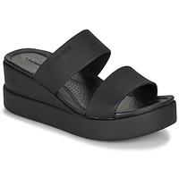 Schuhe Damen Sandalen / Sandaletten Crocs CROCS BROOKLYN MID WEDGE W Schwarz