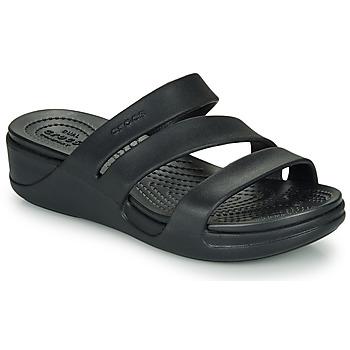 Schuhe Damen Sandalen / Sandaletten Crocs CROCS MONTEREY WEDGE W Schwarz