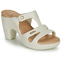 Schuhe Damen Pantoffel Crocs CYPRUS V HEEL W Weiss