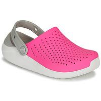 Schuhe Mädchen Pantoletten / Clogs Crocs LITERIDE CLOG K Rose / Weiss