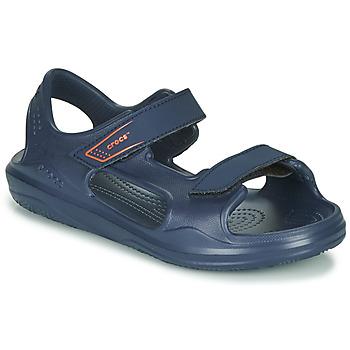 Schuhe Kinder Sandalen / Sandaletten Crocs SWIFTWATER EXPEDITION SANDAL K Marine