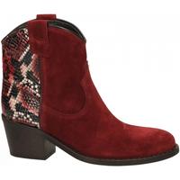 Schuhe Damen Low Boots Via Roma 15 TEXANO 347 chianti-rosso