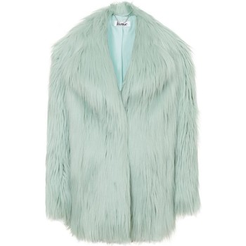Kleidung Damen Mäntel Anastasia Mint Heather Luxe Faux Mongolian Faux Fur Jacket Green
